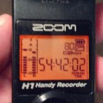 Zoom H1 Recorder Backlit Screen