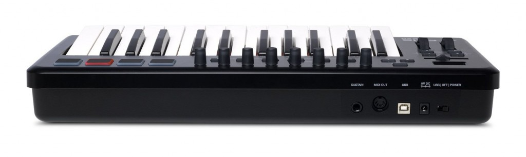 Alesis QX25 USB MIDI keyboard controller back